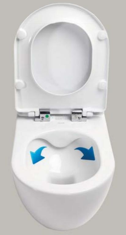 Randloze toiletten