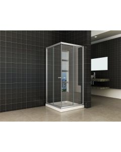 Wiesbaden ECO hoekinstap douchecabine 5mm 100x100x190cm helder glas