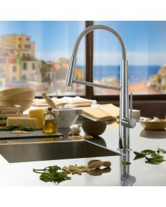 Salenzi keukenkraan Giro uitklapbaar Chroom