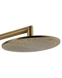 Regendouchekop Salenzi Giro 20 cm Geborsteld Messing Goud
