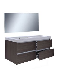 Wiesbaden  Vision meubelset (incl. spiegel) 120 cm houtnerf grijs