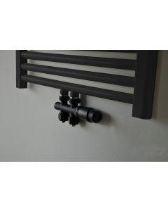 Wiesbaden  set thermostatisch onderblok recht mat-zwart
