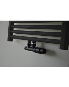 Wiesbaden  set thermostatisch onderblok haaks-rechts mat-zwart