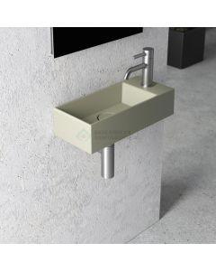 Fontein Salenzi Spy 45x20 cm Mat Legergroen Zonder Kraangat (inclusief bijpassende clickwaste) 5AA15MAG01