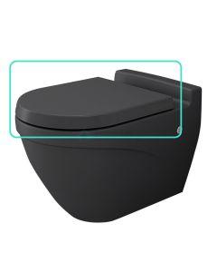 Bocchi wc-zitting duroplast, inox scharnieren, softclose mat antraciet