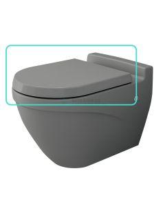 Bocchi wc-zitting duroplast, inox scharnieren, softclose mat grijs