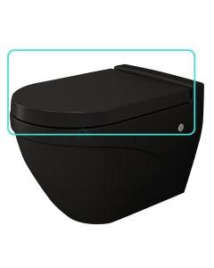 Bocchi wc-zitting duroplast, inox scharnieren, softclose mat zwart