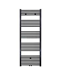 Handdoek radiator midden aansluiting zwart 1600x600-910w