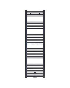 Handdoek radiator midden aansluiting zwart mat geborsteld 1800x600