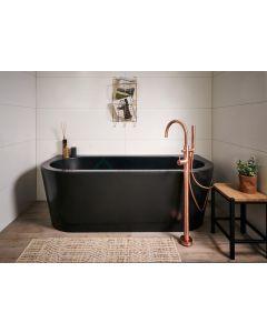 Duero - vrijstaande badkraan zwart mat 3012