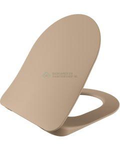 Wc-zitting cappucino mat duroplast, inox scharnieren, softclose