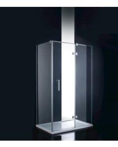 Pasa Cuadra hoekopstelling mat zwart 80 x 100 ( 80cm zijwand en 100cm deurzijde )