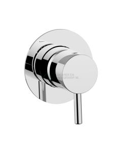 Pure - Inbouw stopkraan, Inox - LET OP! Rozet 18,5 cm 3168