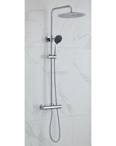 Cedor opbouw regendouche chroom 30cm hoofddouche 2 standen handdouche