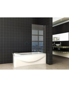 Wiesbaden  Orbit draaibare badwand 800x1400 6mm NANO mat-zwart
