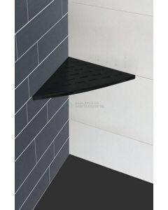 Wiesbaden  InWall hoekplanchet 29x29 mat-zwart