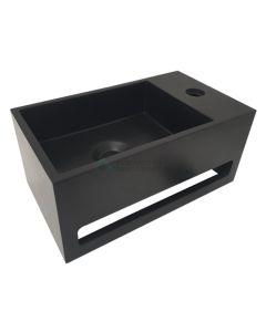 Wiesbaden  Julia fontein Solid Surface 35 x 20 x 16 cm mat-zwart rechts