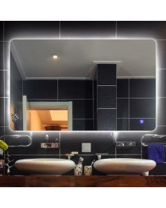 Cedor Aspen spiegel 80x70cm met LED verlichting en spiegelverwarming