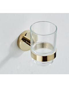 Saniclear glashouder geborsteld messing mat goud