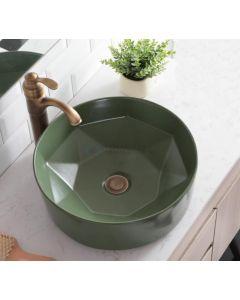 Cedor Evita ronde waCDom 40x14,5cm mat groen