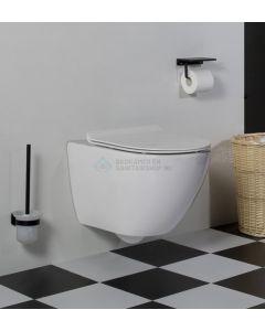 Saniclear Jama compact randloos hangend toilet met platte softclose zitting