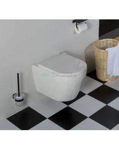 Saniclear Jama compact randloos hangend toilet met dikke softclose zitting