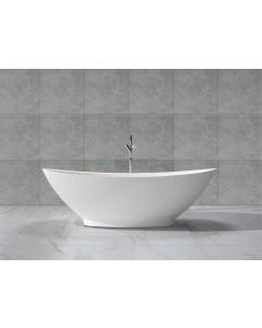 Cedor Tana vrijstaand bad solid surface mat wit 185x85x64cm