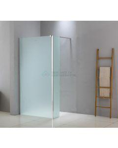 Cedor Trust douche zijwand mat glas 40x200cm anti-kalk chromen profielen