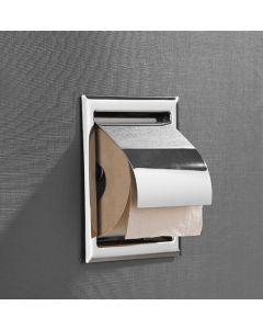 Saniclear inbouw toiletrol houder met klep chroom