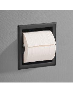 Saniclear inbouw toiletrol houder zonder klep mat zwart