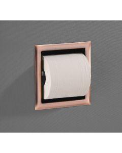 Saniclear inbouw toiletrol houder zonder klep geborsteld koper
