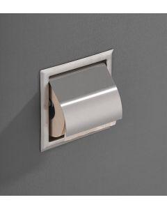 Saniclear inbouw toiletrol houder met klep rvs