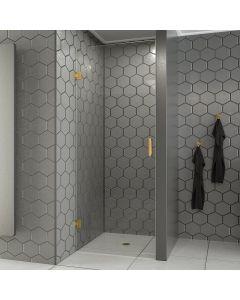 Cedor Modern  profielloze douchedeur 90x200 geborsteld messing - mat goud