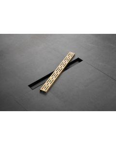 Saniclear Brass douchegoot 70x7cm geborsteld messing - mat goud