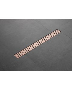 Saniclear Copper douchegoot 70x7cm geborsteld koper