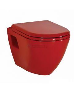 Creavit design ophang wc zonder sproeier rood (taharet)