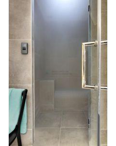 Stoomdeur, 8 mm LifeTime veiligheidsglas cnc geslepen, maatwerk tot 93 cm breed en 200 cm hoog 3388